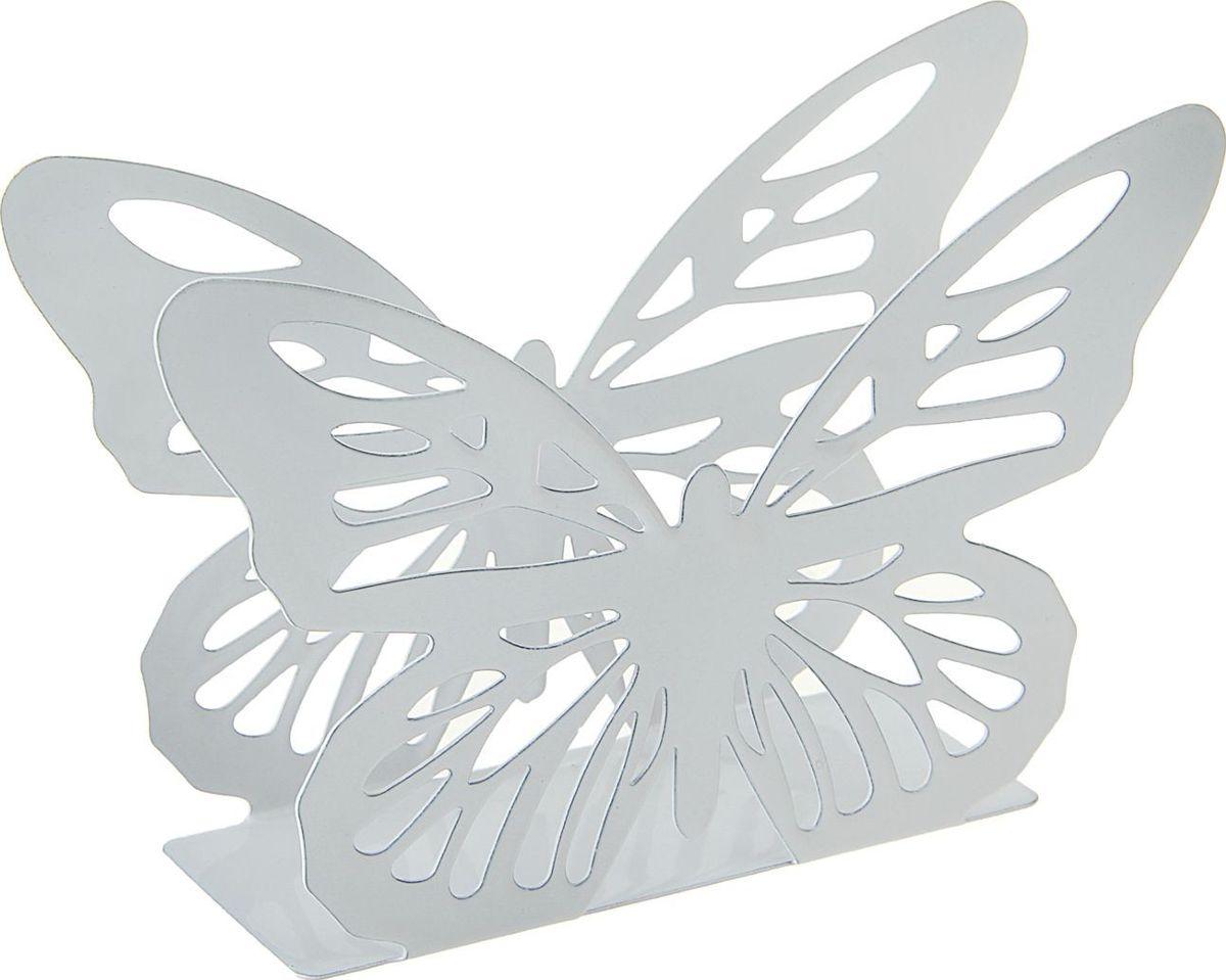 Салфетница Доляна Бабочка, 13,5 х 4 х 9 см салфетница доляна уголок 13 х 6 х 8 см