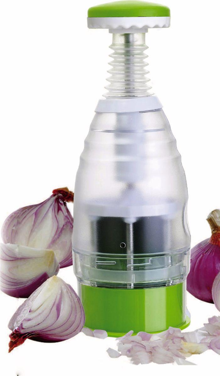 Овощерезка As Seen On TV Onion & Vegetable Chopper, цвет: прозрачный, зеленый массажер as seen on tv relax and tone