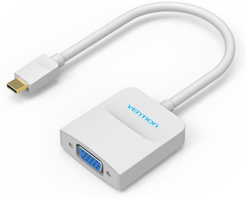Vention USB Type C M - VGA 15F, White мультимедиа конвертер type c to vga usb 3 0 usb c 3 in 1 converter