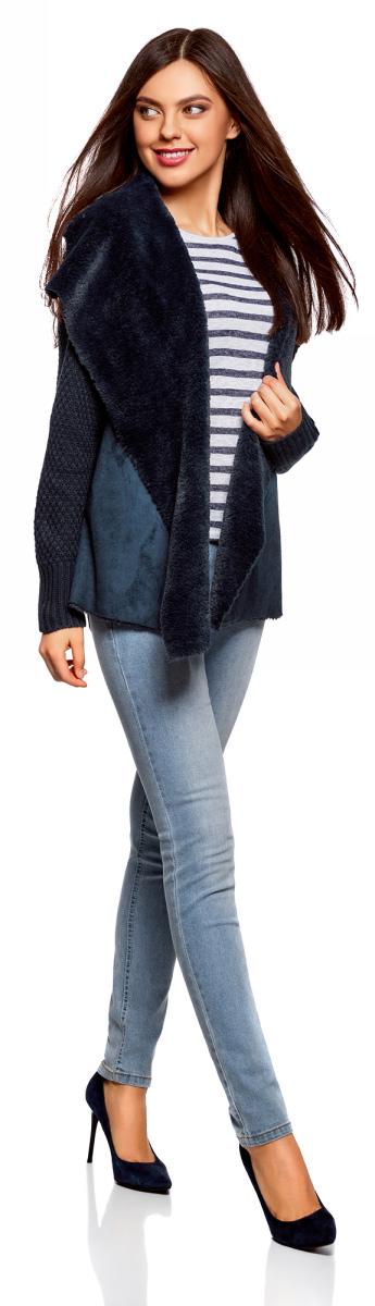 Жакет oodji жакет из велюра на подкладке из искусственного меха