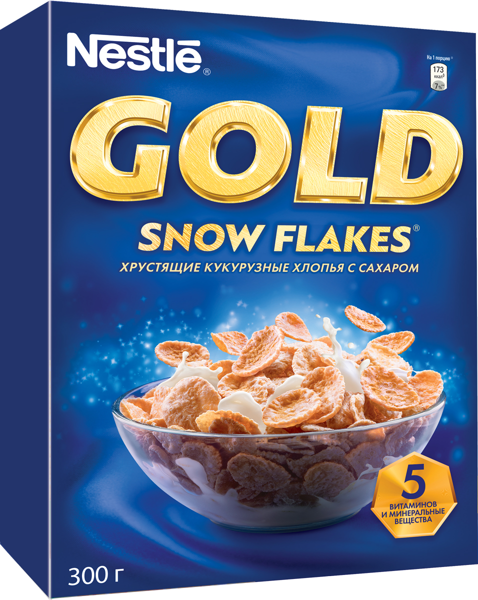 Nestle Gold Snow Flakes готовый завтрак, 300 г