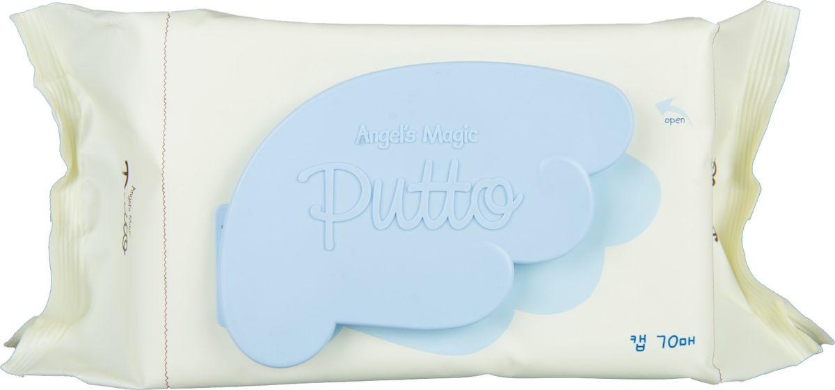 Putto Secret Салфетки детские влажные очищающие, 70 шт