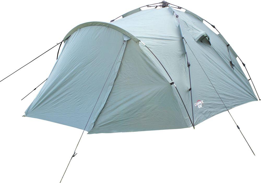 Палатка-автомат туристическая Campack Tent Alpine Expedition 3, 3-х местная, цвет: зеленый, серый, черный