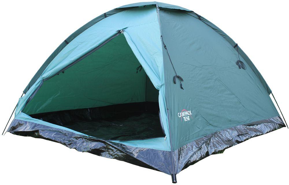 Палатка Campack Tent Dome Traveler 4 4х местная цвет  зеленый черный