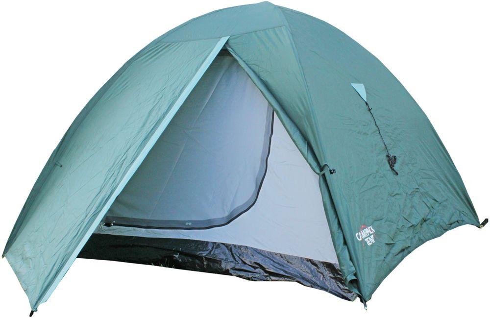 Палатка Campack Tent Trek Traveler 2, 2-х местная, цвет: зеленый, серый, черный
