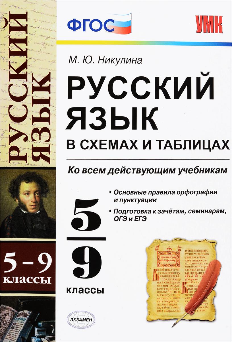 М. Ю Никулина Русский язык в схемах и таблицах. 5-9 классы