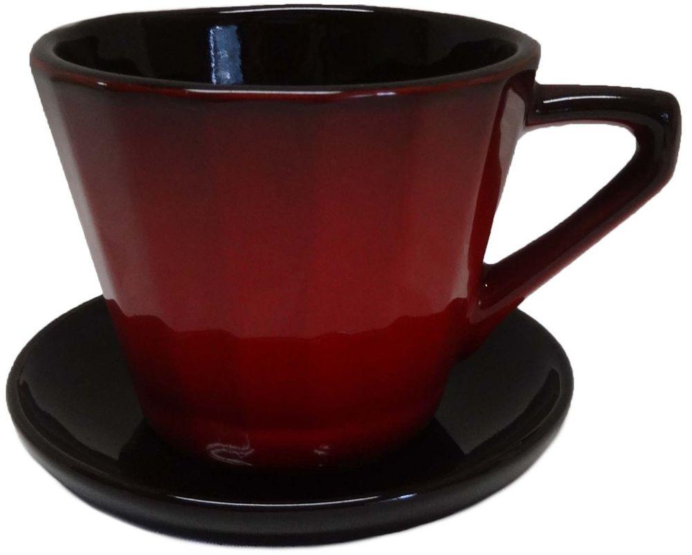 Чайная пара Борисовская керамика Ностальгия, 200 мл. КРС14458003 чайная пара борисовская керамика ностальгия цвет темно фиолетовый голубой 200 мл