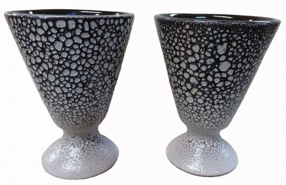 """Бокал """"Борисовская керамика"""", цвет: черный, серый, 150 мл"""