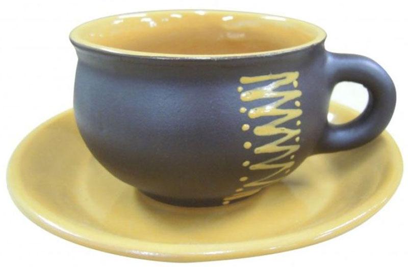 Чайная пара Борисовская керамика Чугун, 250 млЧУГ00000624Набор Чугун от Борисовской керамики даже визуально согреет в любую погоду. Насладитесь вкусом любимых напитков из стильного набора. Уважаемые клиенты! Обращаем ваше внимание на цветовой ассортимент товара. Поставка осуществляется в зависимости от наличия на складе.