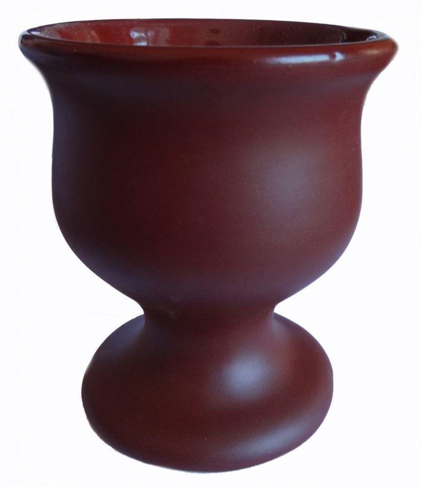 """Бокал Борисовская керамика """"Шелк"""", цвет: коричневый, 100 мл"""