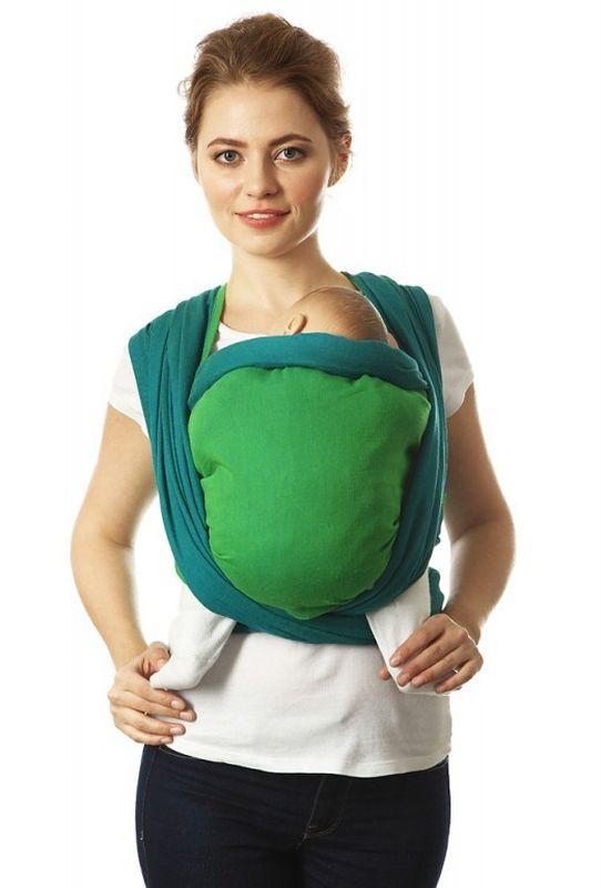 Mum's Era Слинг-шарф Casual цвет зеленый темно-бирюзовый mum s era слинг шарф сердца