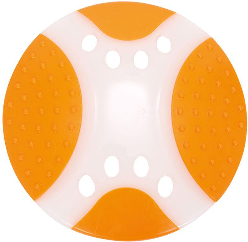 Игрушка для собак Грызлик Ам Тарелка летающая. Frisbee Dental Nylon, цвет: оранжевый, диаметр 23 см радиоуправляемая игрушка летающая тарелка