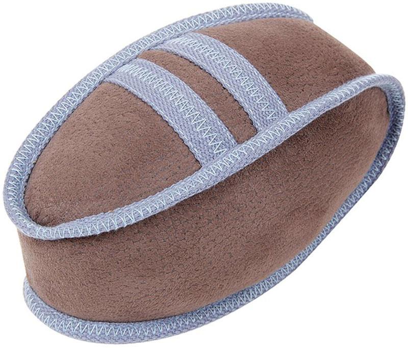 Игрушка для собак Грызлик Ам Мяч регби. Oxford, с пищалкой, цвет: бежевый, длина 21 см игрушка для собак грызлик ам бантик bottle sound цвет голубой длина 16 2 см