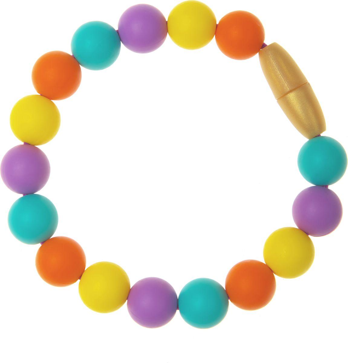 МАМидея Браслет-прорезыватель Майя цвет фиолетовыйmi-050105Браслет из пищевого силикона МАМидея Майя - это стильное украшение и полезная игрушка для малыша.Браслет МАМидея способен скрасить малышу ожидание в очереди, развеселить, если вы забыли взять с собой игрушку. Его можно использовать как грызунок в период прорезывания зубов, кипятить и замораживать.Пищевой силикон не содержит вредных химикатов и красителей, поэтому абсолютно безопасен. Силиконовые браслеты можно и даже нужно использовать в период прорезывания зубов, ведь они не травмируют детские десны и зубки. Приятная нежная текстура бус притягивает, заставляя возвращаться к ним снова и снова.Украшения из силикона набирают все большую популярность среди активных мам, благодаря стильному дизайну и практичности. Браслет застегивается на пластиковую застежку. Единый размер. Браслеты МАМидея: - модные: яркие, стильные расцветки под любой стиль одежды, - можно носить как украшение, - безопасные, без химикатов, без запаха, - пищевой силикон, из которого изготавливают детские соски, - не содержат BPA (бисфенол А), фталаты, кадмий, свинец и тяжелые металлы, - можно мыть в посудомоечной машине и кипятить, - упругие, не трескаются, не прогрызаются, - стильный аксессуар для слингоношения. Длина браслета в расстегнутом виде: 21,5 см.