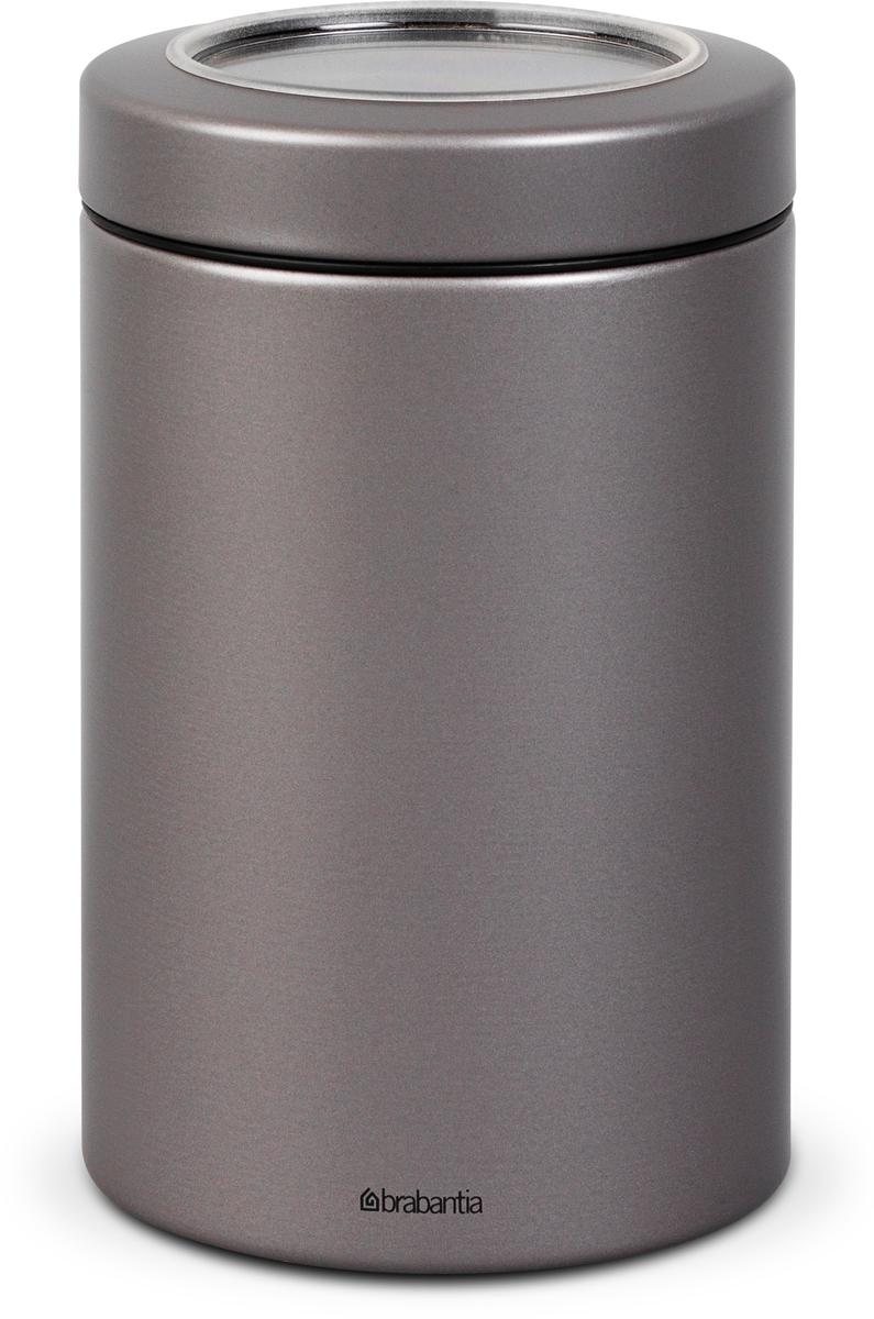 Контейнер для сыпучих продуктов Brabantia, цвет: платиновый, 1,4 л. 48176 brabantia контейнер для сыпучих продуктов с окном 1 4 л 484063 brabantia