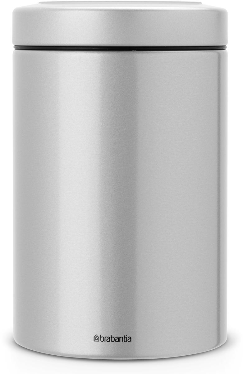 Контейнер для сыпучих продуктов Brabantia, цвет: серый металлик, 1,4 л. 484568