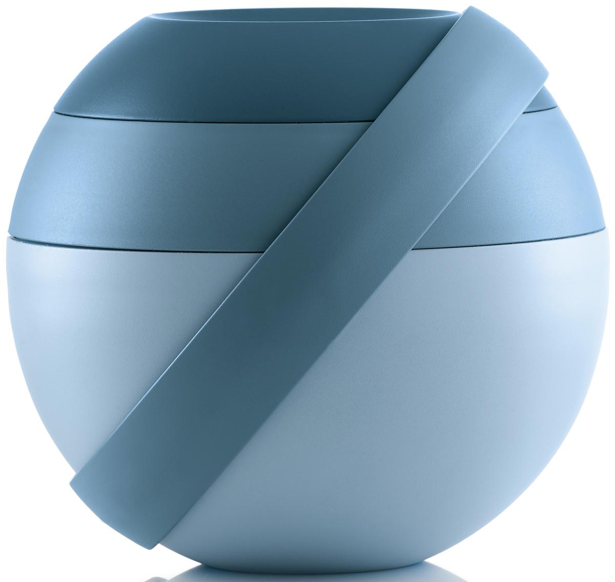 "Ланч-бокс для салатов Guzzini ""Zero"", цвет: синий, 388 мл + 780 мл, 5 предметов"