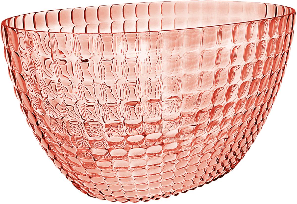 Ведерко для шампанского Guzzini Tiffany, цвет: коралловый19930023Ведерко для шампанского - это общепризнанный символ праздника и один из главных предметов сервировки на столе. Оно подчеркивает торжественную атмосферу, привлекает взгляды гостей и украшает своим присутствием любой вечер. Дизайн ведерка Tiffany отличается оригинальной рельефной формой, которая в сочетании с прозрачным материалом заставляет поверхность сверкать и переливаться на свету. Изготовлено из высококачественного органического стекла, устойчивого к износу и повреждениям. Ведерко представляет собой расширяющийся кверху овал и может вместить сразу две бутылки белого вина. Прямой и ровный край гарантирует, что ведерко не треснет, если бутылка ударится о его стенку. Яркий, функциональный и привлекательный предмет для вечеринок с друзьями, семейных праздников и торжественных мероприятий. Не содержит вредных примесей и бисфенола-А. Моется вручную.