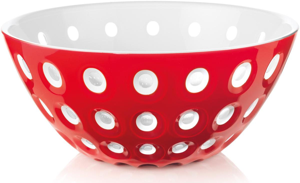 "Салатник Guzzini ""Le Murrine"", цвет: красный, белый, диаметр 25 см, 2,7 л"