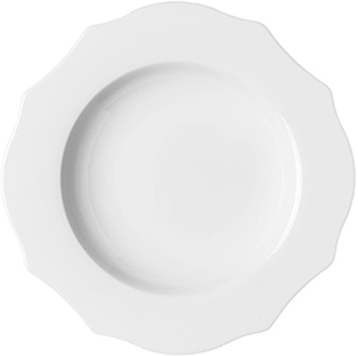 цена на Тарелка для супа Guzzini Belle Epoque, цвет: белый, диаметр 24 см