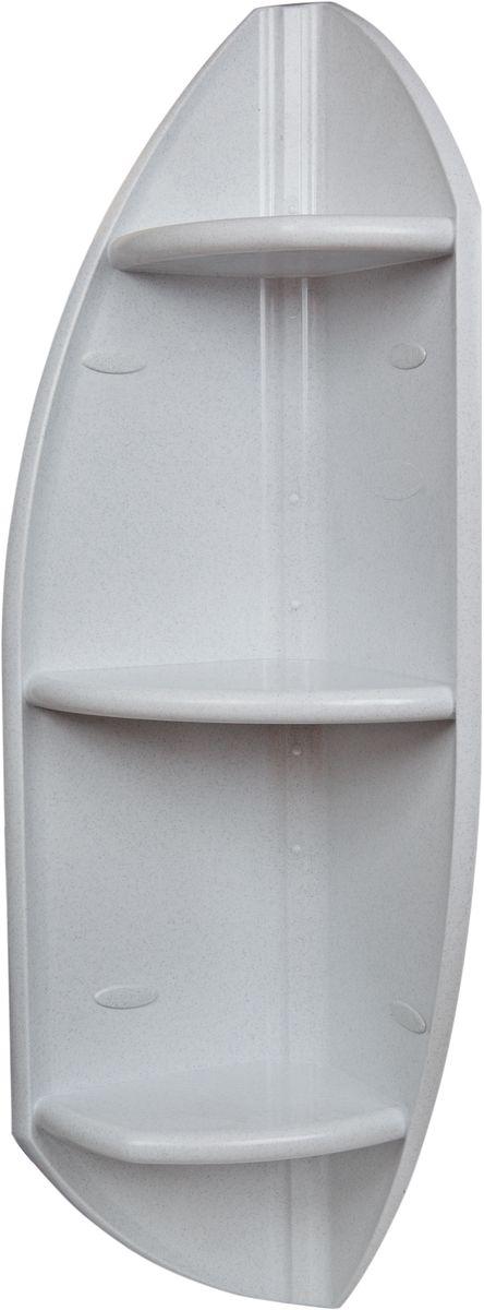 Полка для ванной комнаты Berossi, угловая, цвет: белый, 32 х 32 х 90,3 см салатник berossi domino twist цвет снежно белый 0 7 л