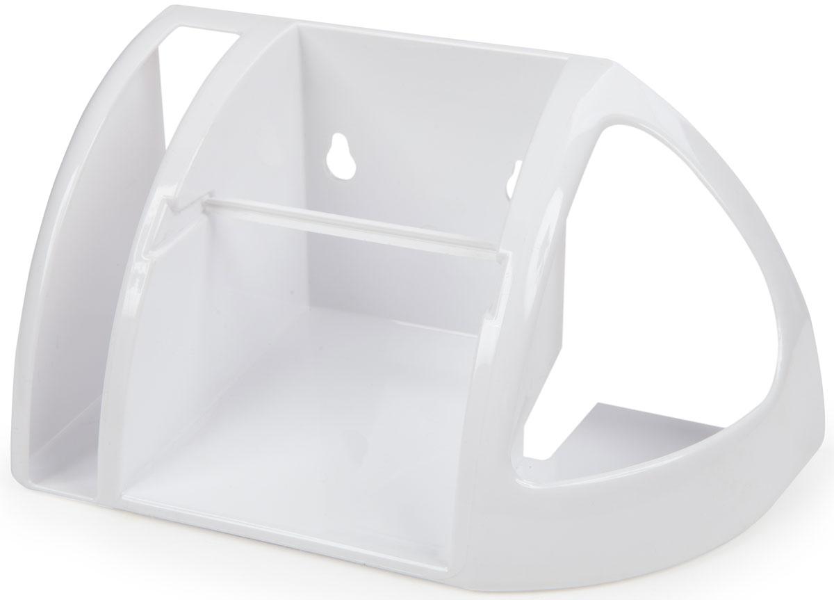 Держатель для туалетной бумаги Berossi, цвет: белый, 25,8 х 13,4 х 24 см телефон из бумаги