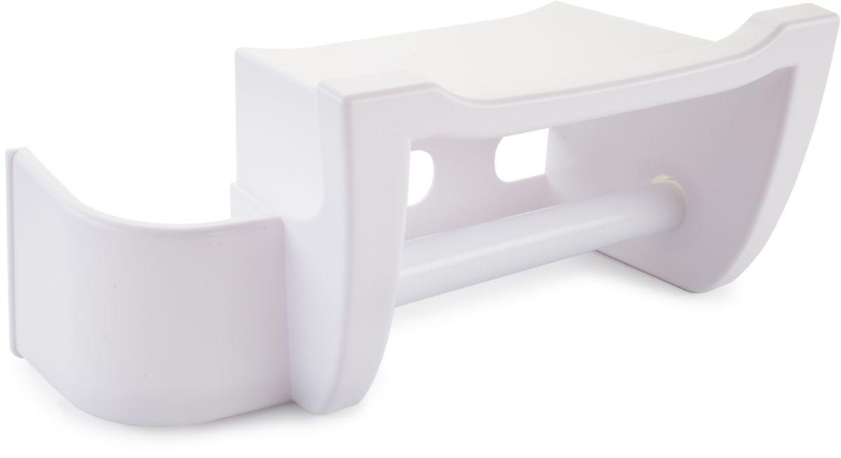 Держатель для туалетной бумаги Berossi Mira, цвет: белый, 26 х 12 х 12,3 см салатник berossi domino twist цвет снежно белый 0 7 л