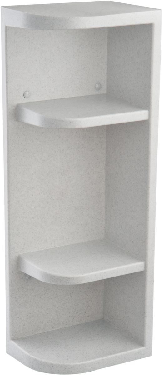 Полка для ванной комнаты Berossi Hilton Universal, угловая, цвет: белый мрамор, 13 х 19,4 х 55 см салатник berossi domino twist цвет снежно белый 0 7 л