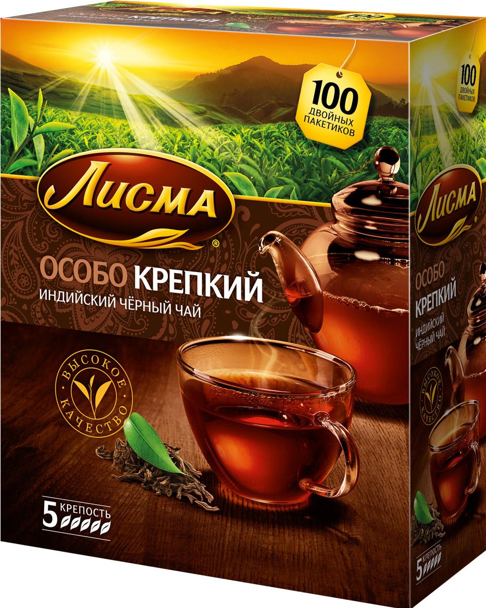 Лисма Особо Крепкий черный чай в пакетиках, 100 шт201934Лисма Особо Крепкий - индийский черный байховый чай в пакетиках. В коробке содержится 100 пакетиков по 2,3 грамма. Уважаемые клиенты! Обращаем ваше внимание на то, что упаковка может иметь несколько видов дизайна. Поставка осуществляется в зависимости от наличия на складе.