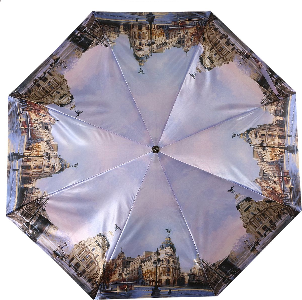 Зонт женский Trust, автомат, 3 сложения, цвет: голубой, коричневый, розовый. 30472-63 зонт trust 30475 20 женский полный автомат