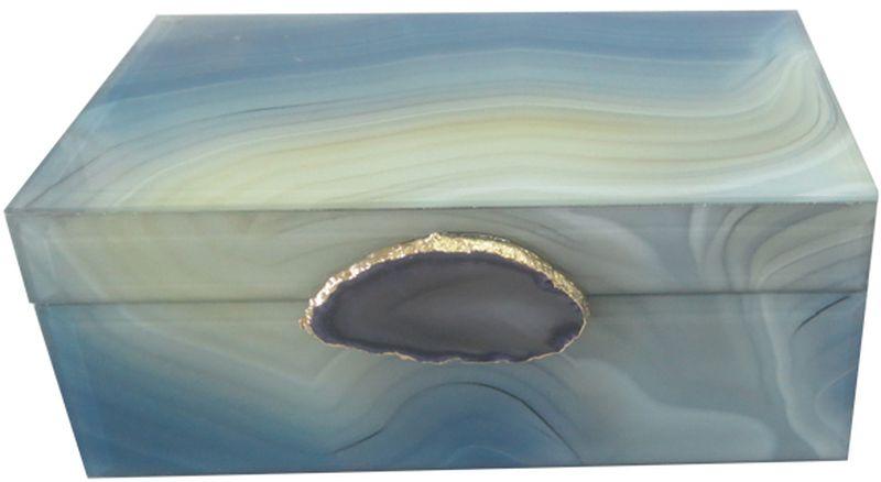 Шкатулка декоративная Magic Home Дымчатый агат, 21 х 13 х 8,5 см шкатулка 21 х 13 х 13 см