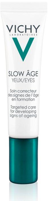 Vichy Slow Age для контура глаз, укрепляющий крем против признаков старения, 15 мл vichy крем для контура глаз liftactiv дерморесурс 15 мл
