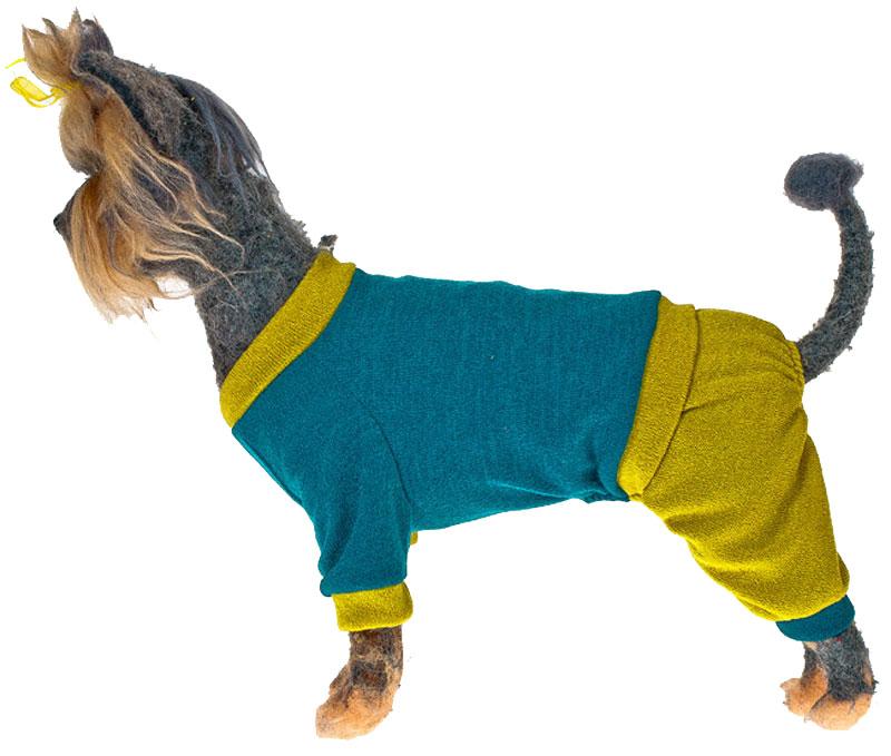 """Свитер для собак Happy Puppy """"Шарли"""", унисекс, цвет: зеленый. Размер XL"""