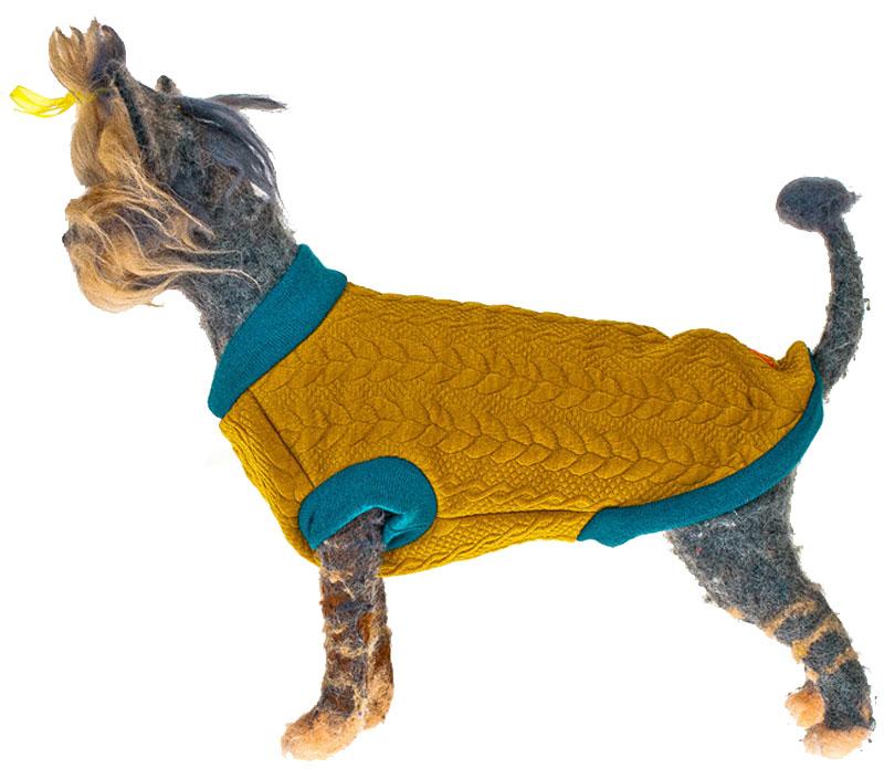 """Свитшот для собак """"Happy Puppy"""", унисекс, цвет: горчичный, голубой. Размер L"""