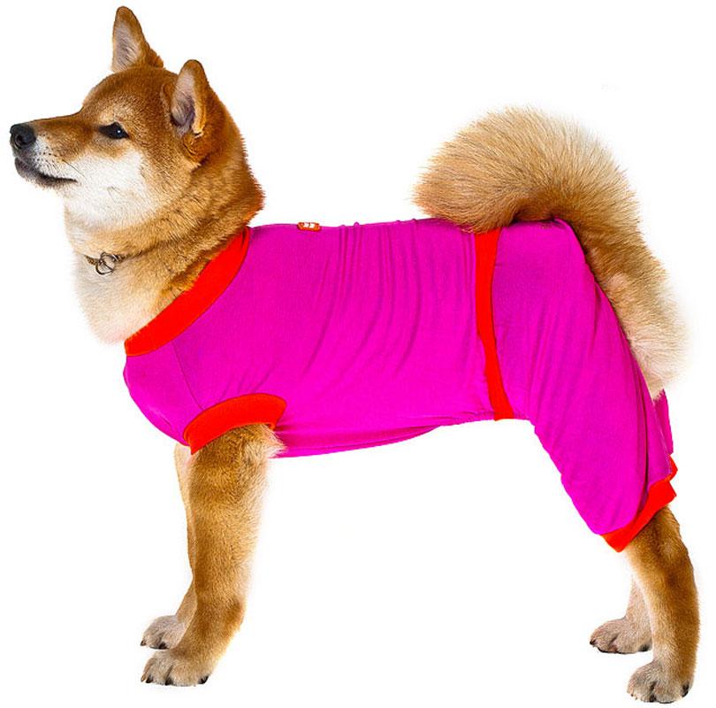 Комбинезон для собак Happy Puppy Летний, для девочки, цвет: розовый. Размер 3 (L) комбинезон для собак dogmoda тревел для девочки цвет серый розовый размер 3 l