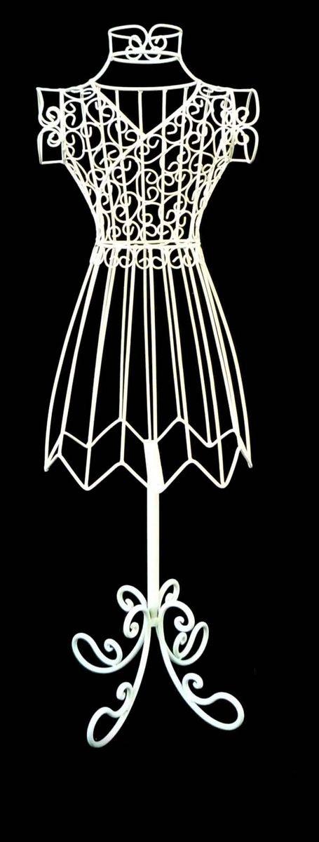 Вешалка Magic Home Леди, цвет: белый, 24 х 15 х 77 см вешалка крючок magic home двойной цвет оранжевый 43887