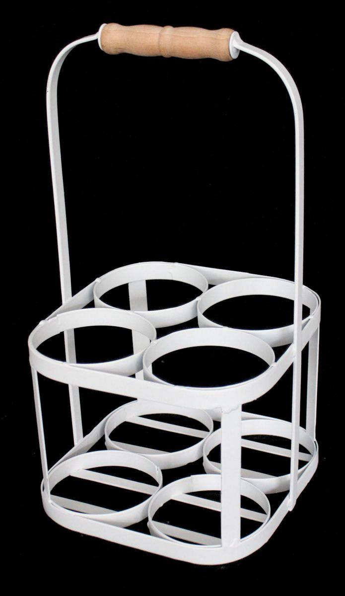 Подставка для бутылок Magic Home Ассорти, цвет: белый, 19 х 19 х 37 см подставка для хранения велосипеда