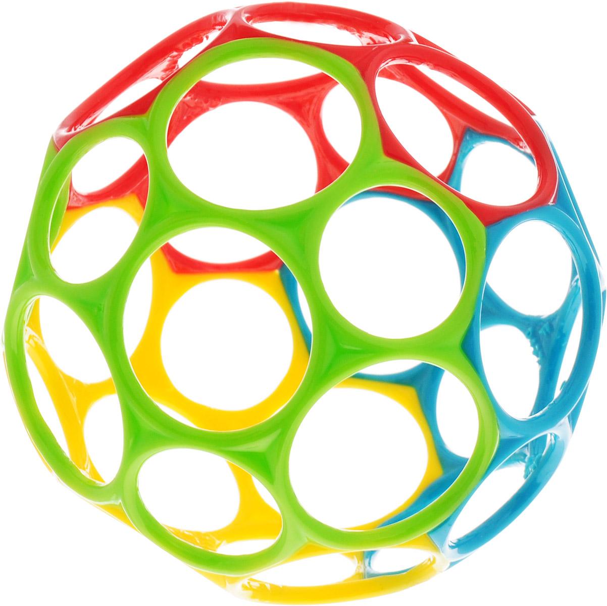 Развивающая игрушка Oball Мячик цвет красный салатовый желтый голубой арт.81024