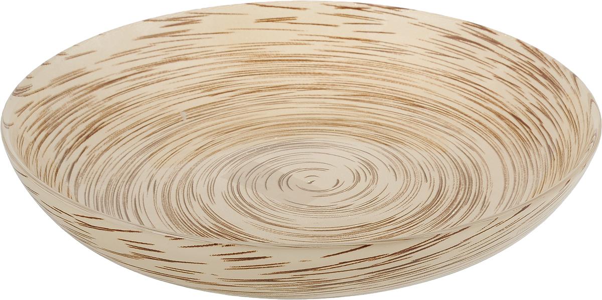 "Тарелка глубокая Luminarc ""Stonemania"", цвет: светло-коричневый, диаметр 20 см"