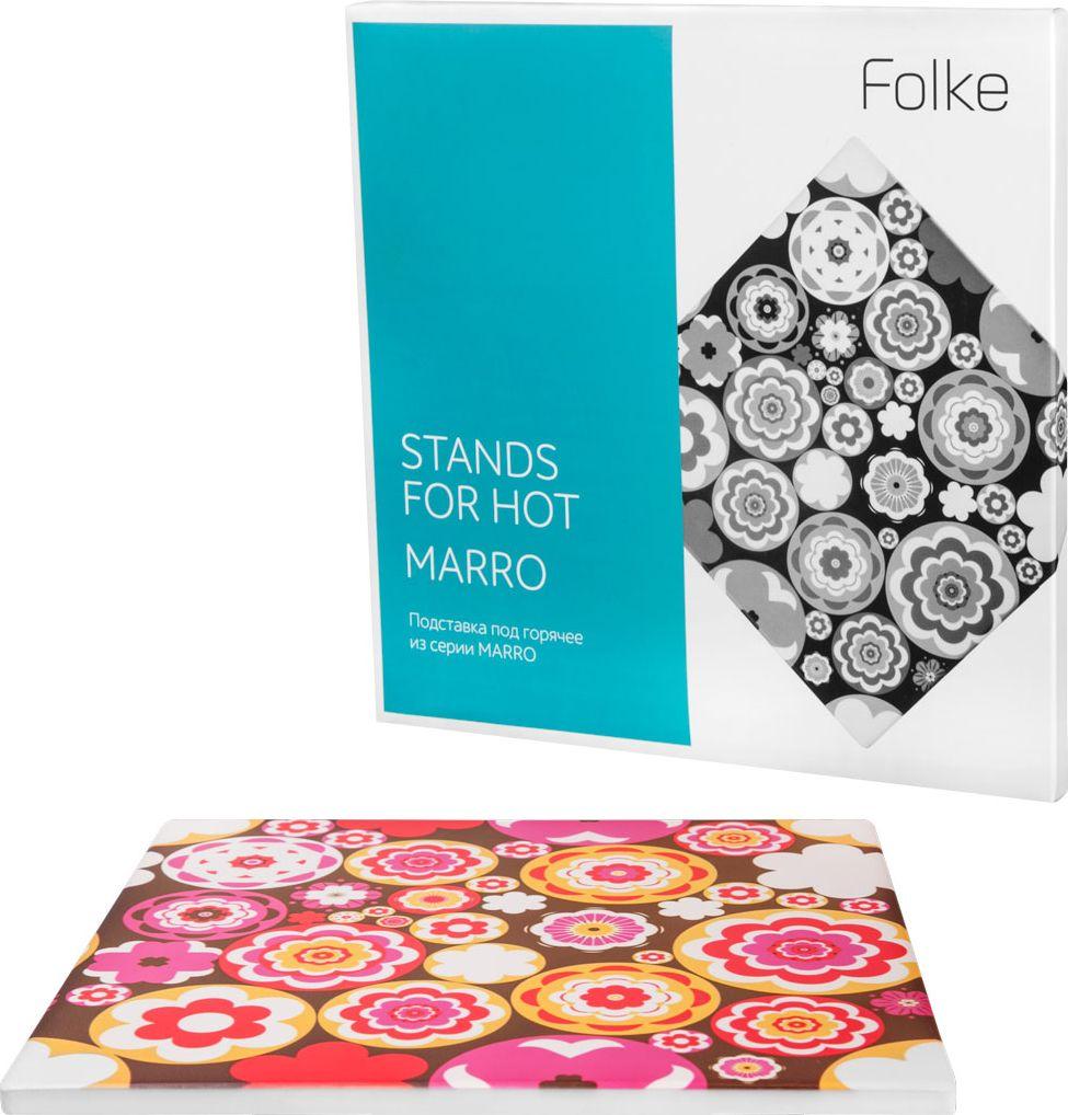 "Подставка ""Folke"" под горячее, цвет: фуксия, 20 х 20 х 0,6 см"