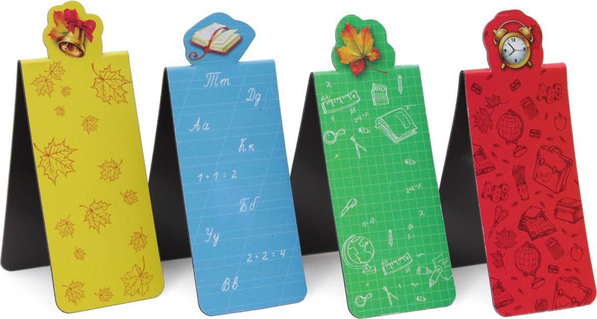Феникс+ Набор магнитных закладок Пора в школу 4 шт