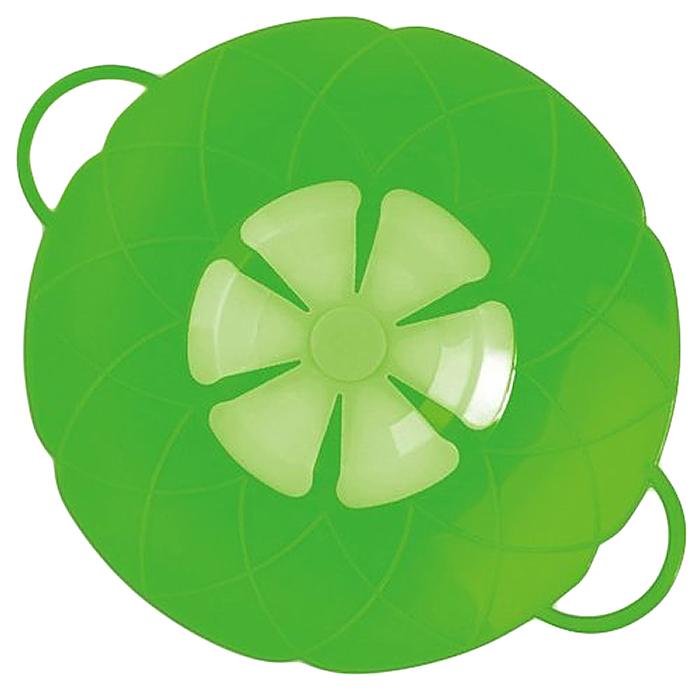 Крышка As Seen On TV Невыкипайка, цвет: зеленый, 15-25 см кошелек зарядка as seen on tv