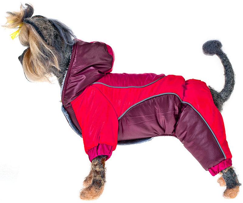 """Комбинезон для собак Happy Puppy """"Фристайл"""", унисекс, цвет: красный, бордовый. Размер 2 (M)"""