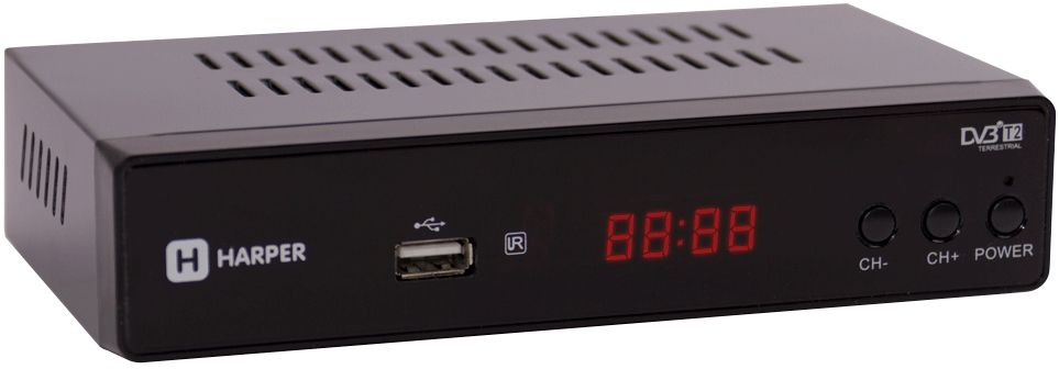 ТВ ресивер Harper HDT2-5010, Black