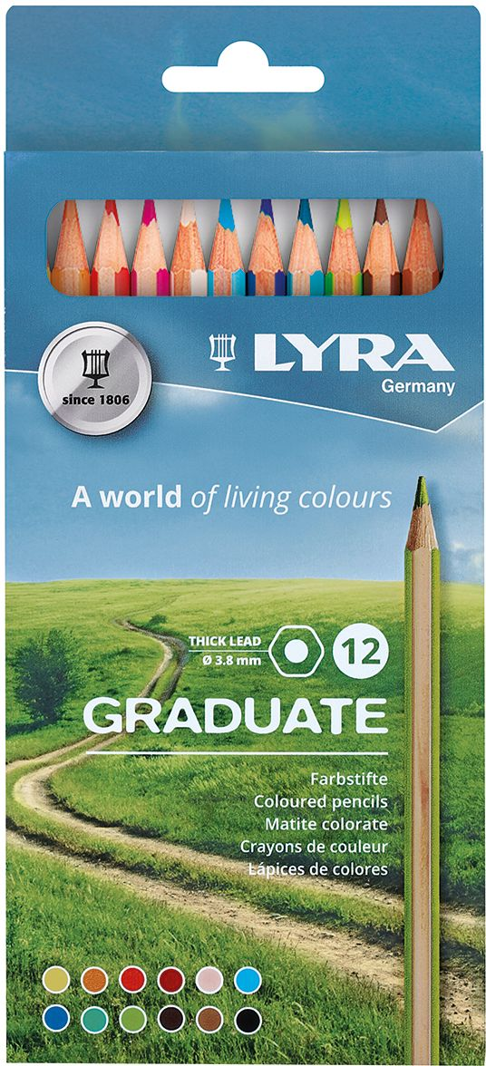 Lyra Набор цветных карандашей Graduate 12 шт L2871121