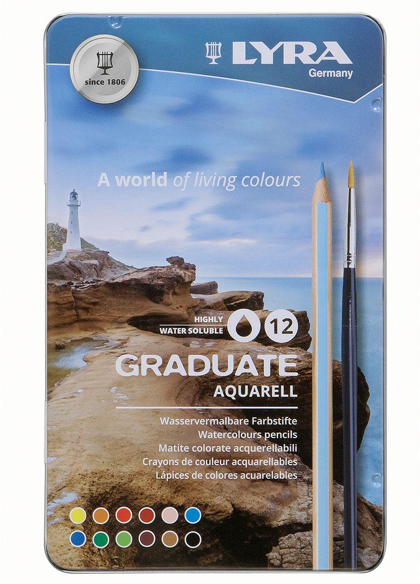 Lyra Набор акварельных цветных карандашей Graduate Aquarell 12 шт цена