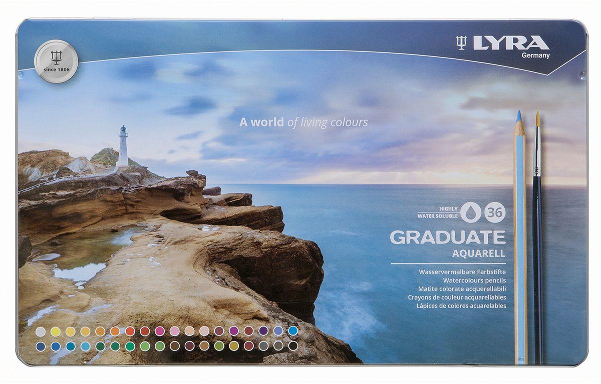 Lyra Набор акварельных цветных карандашей Graduate Aquarell 36 шт цена