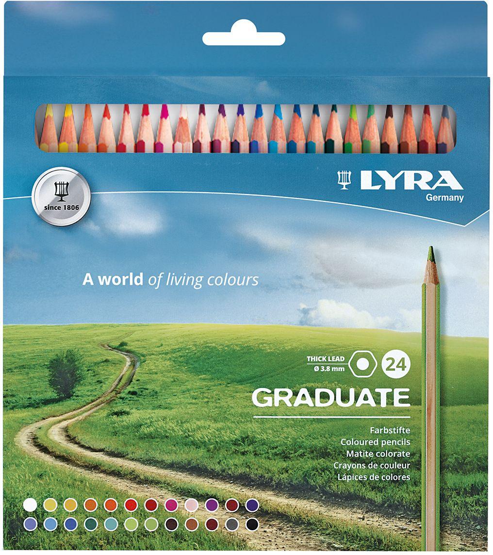 Lyra Набор цветных карандашей Graduate 24 шт L2871241
