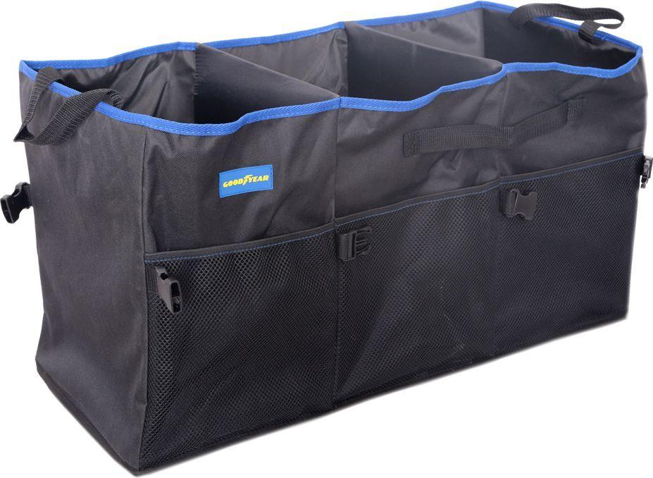 Органайзер в багажник Goodyear, складной, 3 секции органайзер в багажник goodyear складной 1 секция gy001001
