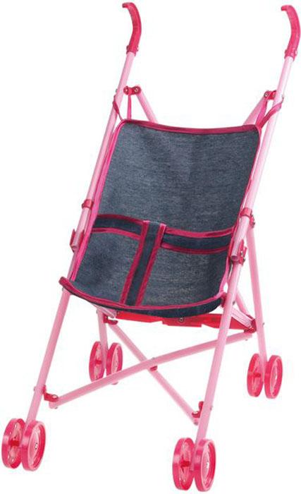 1Toy Коляска-трость для куклы Красотка-Джинс цет серый Т10380